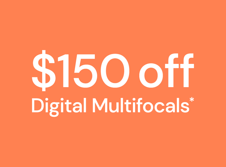 $150 off digital multifocal lenses